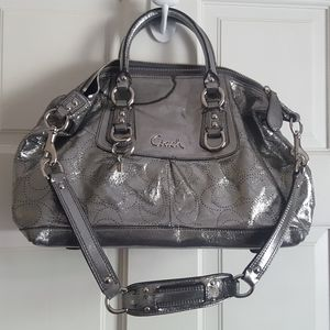 Coach Metallic Satchel Style Purse